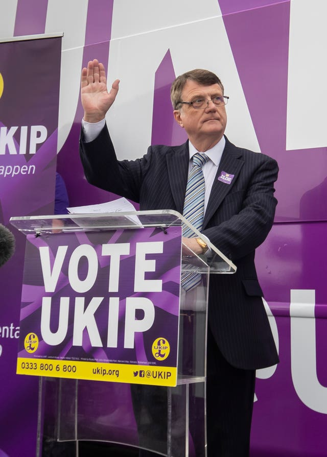 Ukip Party leader Gerard Batten