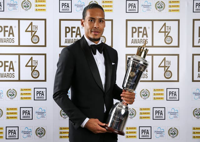 Liverpool's Virgil van Dijk won the 2019 PFA Player of the Year award