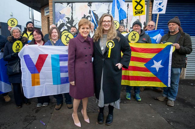 Nicola Sturgeon and Sarah Masson