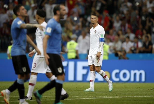 The round of 16 saw some big names exit, including Portugal's Cristiano Ronaldo as his side lost 2-1 to Uruguay (Francisco Seco/AP).
