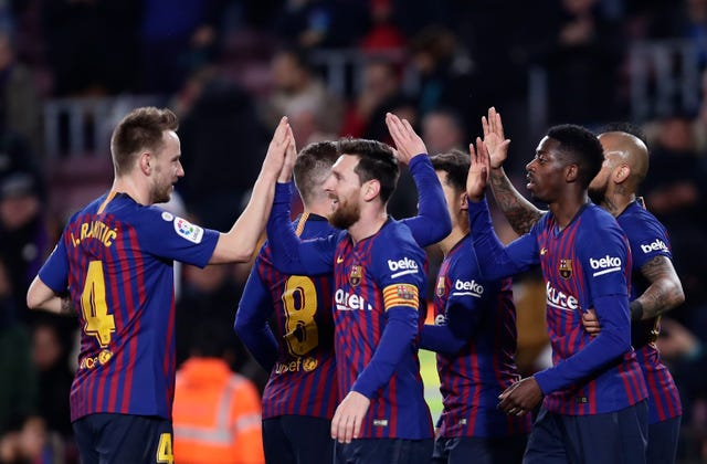 Barcelona eased to victory at the Nou Camp on Thursday night