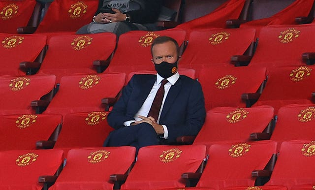 Ed Woodward has questioned why supporters have not been allowed to return to football grounds