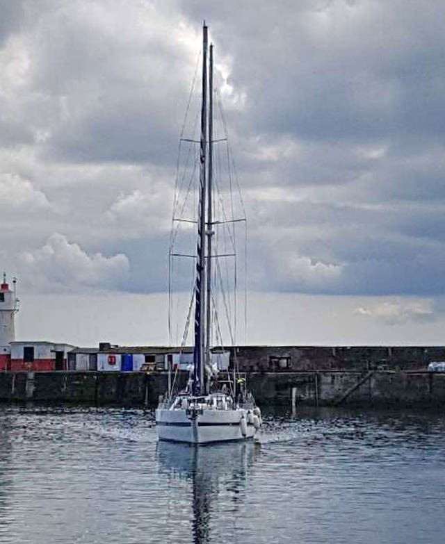 Two men have been charged after the yacht was seized in the English Channel by the National Crime Agency (National Crime Agency /PA).