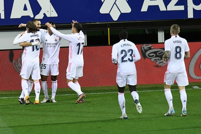 Real Madrid claimed their fifth successive win in all competitions (Alvaro Barrientos/AP/PA)