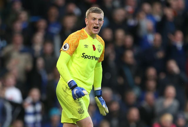 Jordan Pickford was pleased with Everton's point at Chelsea