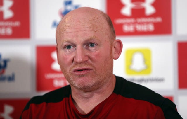 Neil Jenkins at a press conference