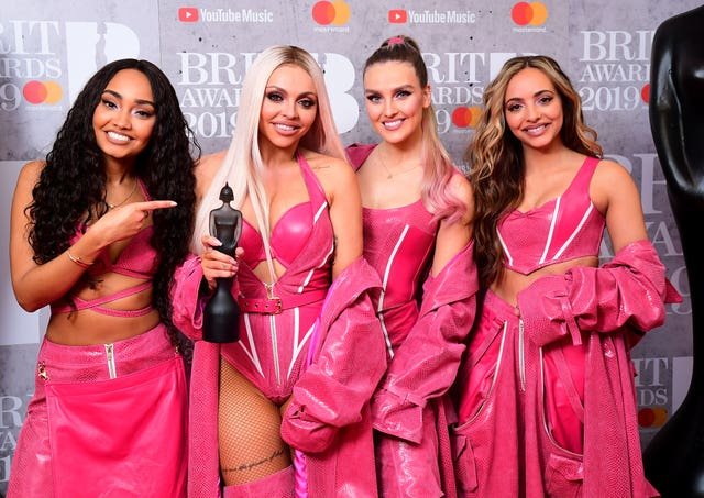 Leigh-Anne Pinnock, Jesy Nelson, Perrie Edwards and Jade Thirlwall of Little Mix at the Brits