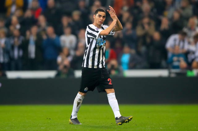 Miguel Almiron had a stop-start beginning to life at Newcastle