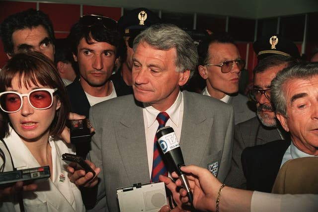 Bobby Robson quit his role after Italia 90