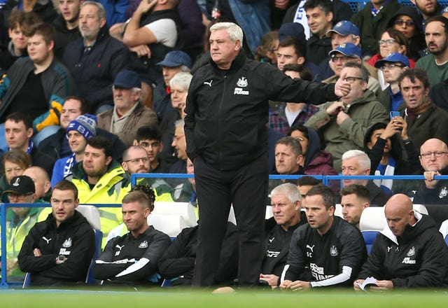 Steve Bruce felt there was a foul in the build-up to Chelsea's winner (Steven Paston/PA)