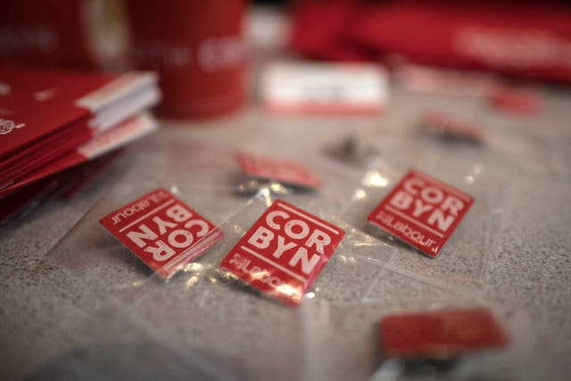 Labour Party annual conference 2017 merchandise on sale (Stefan Rousseau/PA)