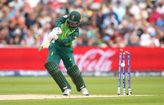 Quinton de Kock, pictured, has twice been bowled by Root (Tim Goode/PA)