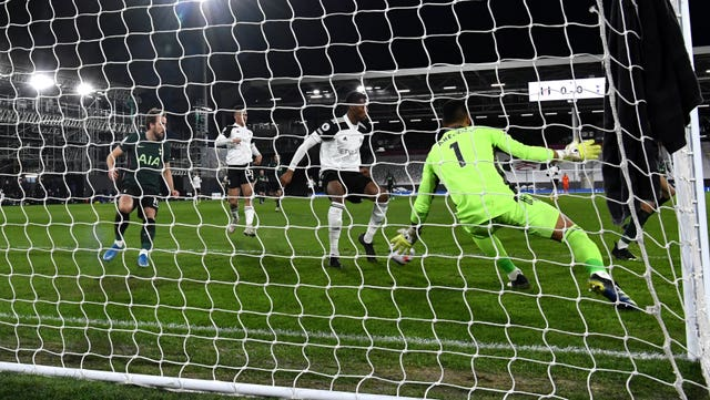 Fulham's Tosin Adarabioyo puts through his own net at Craven Cottage