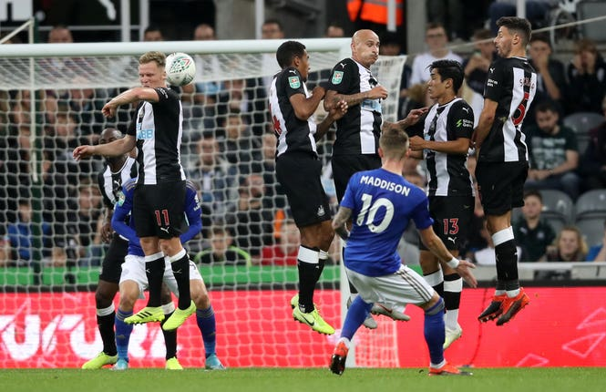 James Maddison's deflected free-kick gave his side the lead