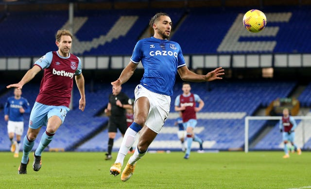 Dominic Calvert-Lewin's goal drought continued