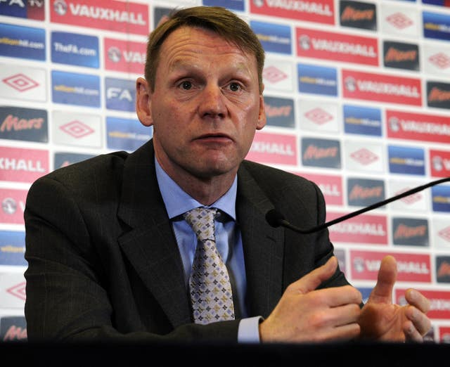 Stuart Pearce was the caretaker manager as England lost 3-2 to Holland in a 2012 friendly.