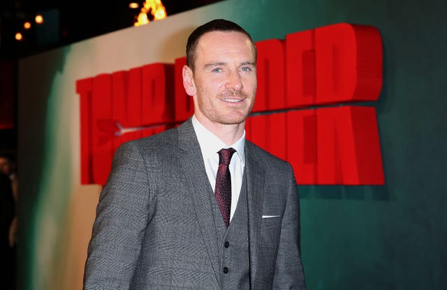 Michael Fassbender at the premiere of his wife Alicia Vikander's Tomb Raider film (Isabel Infantes/PA)