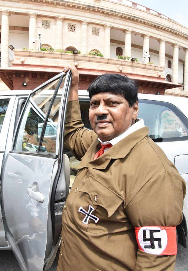Naramalli Sivaprasa dressed as Hitler