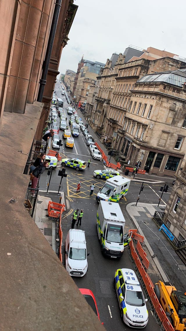 Emergency services in West George Street