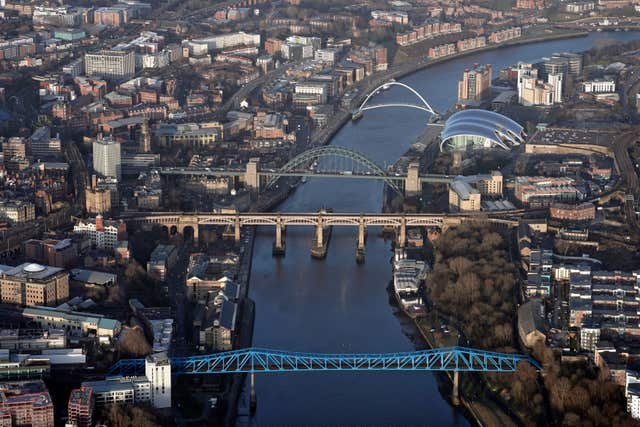 Newcastle from above