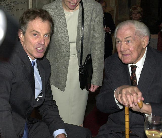 Jim Callaghan (right), with Tony Blair