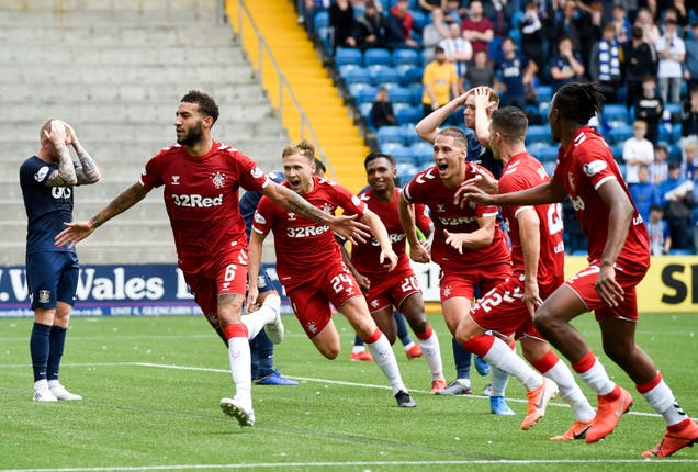 Connor Goldson celebrated the winner as Rangers beat Kilmarnock