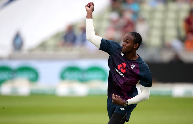 Jofra Archer is in contention to play in the second Test