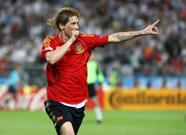 Fernando Torres' strike secured victory for Spain against Germany in the Euro 2008 final in Vienna (EMPICS).