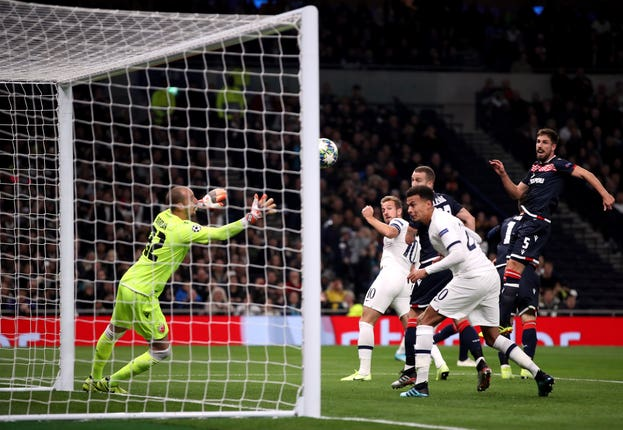 Kane put Spurs in front early one with a glancing header