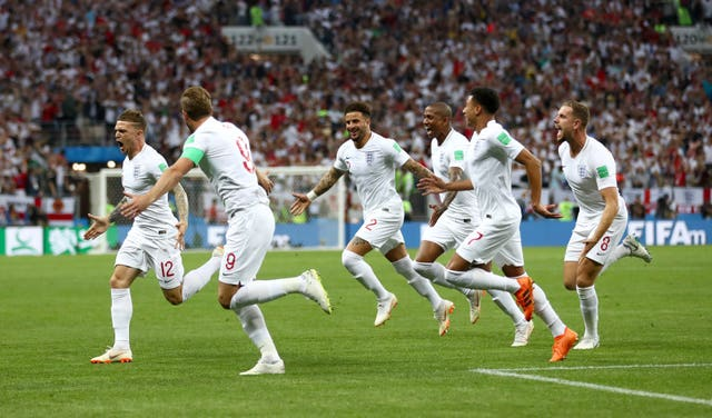 Kieran Trippier opened the scoring in England's World Cup semi-final against Croatia in 2018