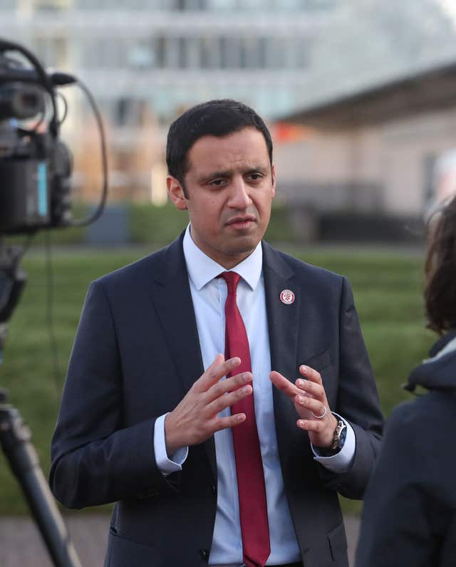 Anas Sarwar said the campaign is causing fear and alarm (Jane Barlow/PA)