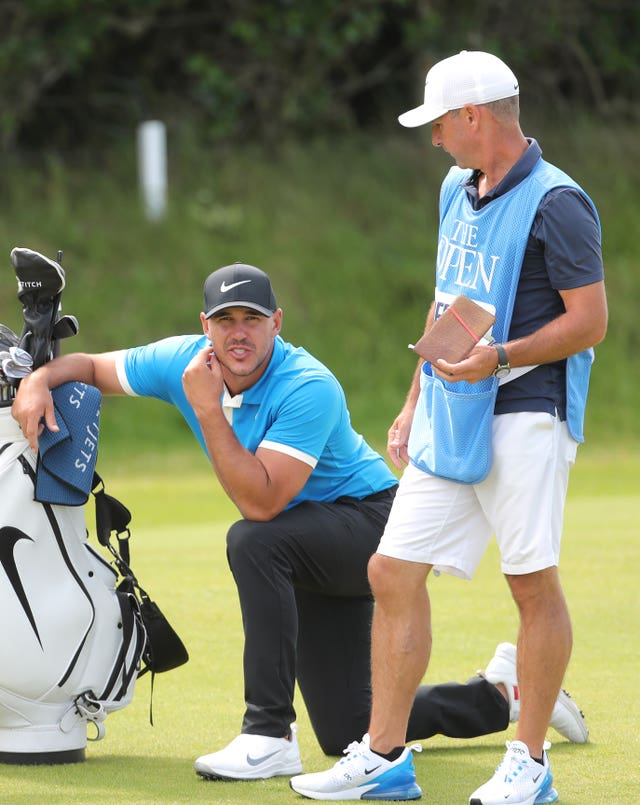 Brooks Koepka's caddie Ricky Elliott will have plenty of home support this week
