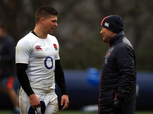 Eddie Jones, right, wants Youngs to reach 150 England caps