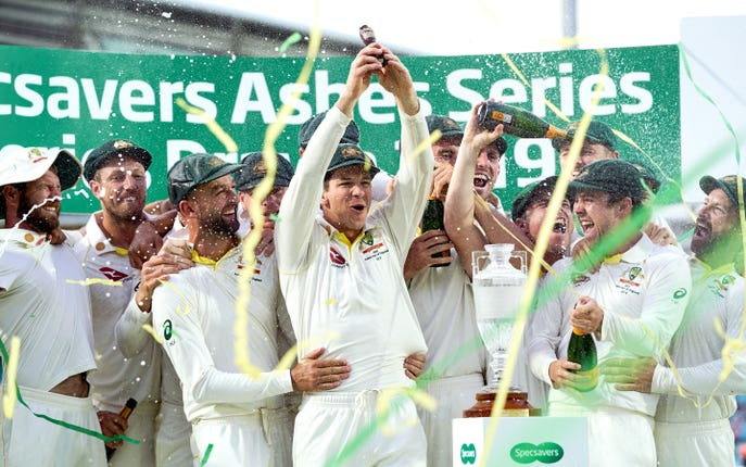 Australia captain Paine lifted the run after they retained the Ashes having won the previous series down under