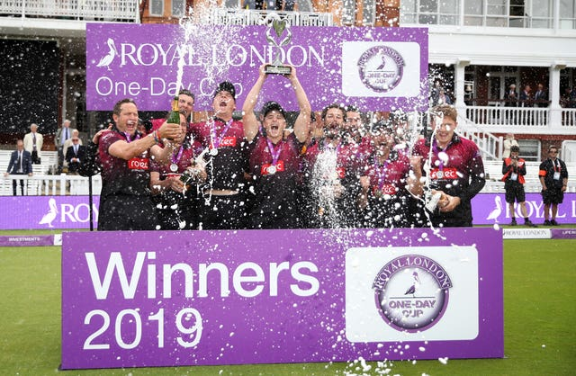 Somerset lifted the Royal London One-Day Cup last year (Tim Goode/PA)