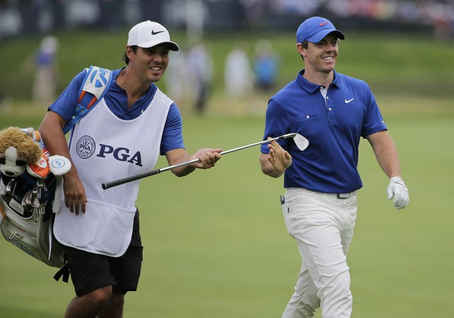 Rory McIlroy (right)