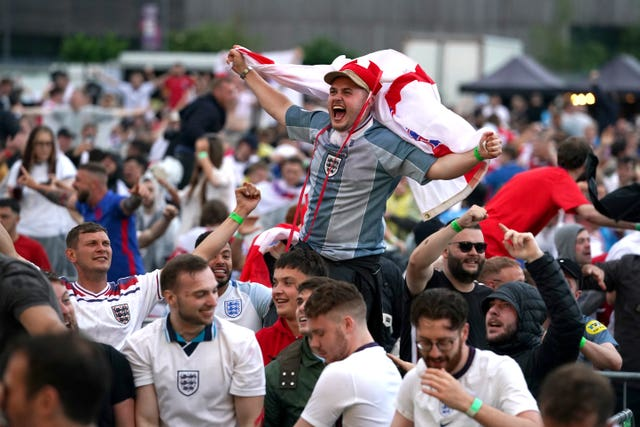 Fans watch Ukraine vs England