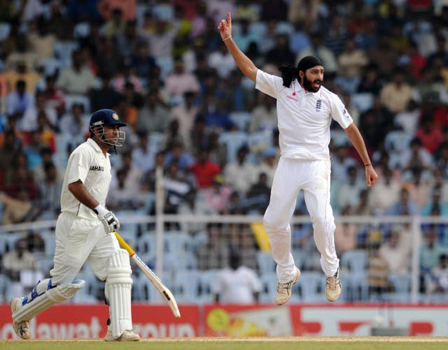 Monty Panesar was famed for his joyous celebrations (Anthony Devlin/PA)