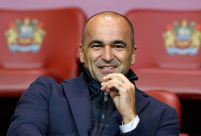 Belgium manager Roberto Martinez has swapped ideas with Townsend