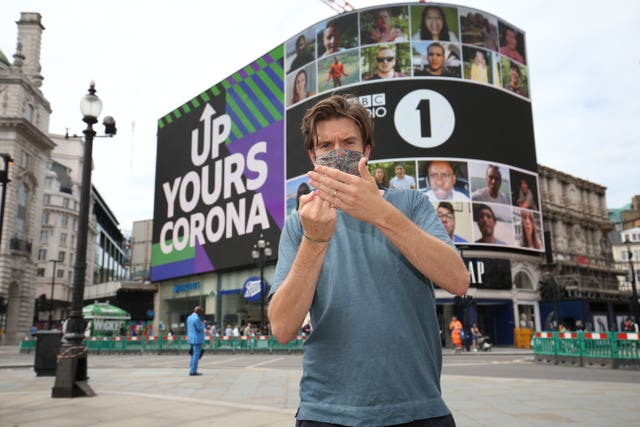 "Radio 1 ""Up Yours Corona"" campaign"