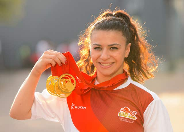 Claudia Fragapane won four gold medals in Glasgow four years ago but misses Gold Coast because of injury