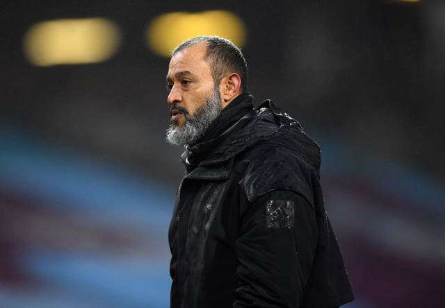 Nuno Espirito Santo was not impressed with his side's performance