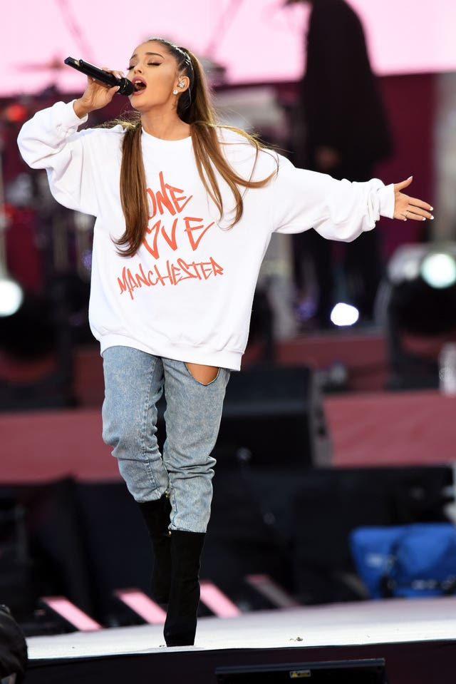 Ariana Grande will open the Billboard Music Awards on Sunday, just two days before the first anniversary of the Manchester Arena bomb (Dave Hogan for One Love Manchester/PA)