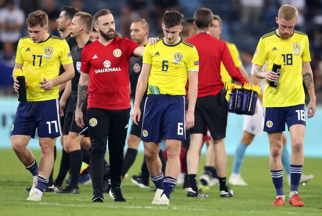 Scotland are out to bounce back from their defeat in Israel when they take on Portugal (Adam Davy/PA).