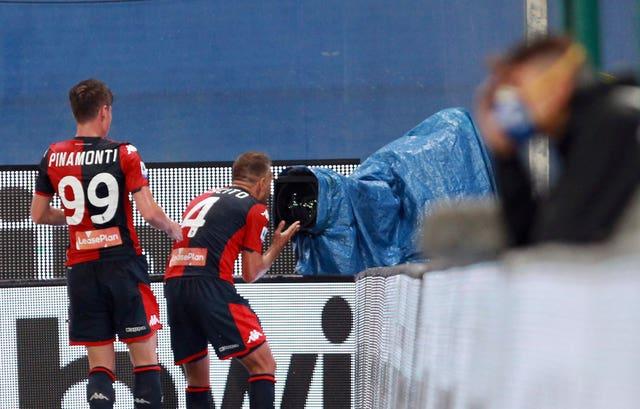 Domenico Criscito put Genoa ahead in the Derby della Lanterna against Sampdoria
