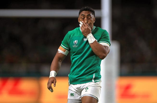 Bundee Aki was shown a red card against Samoa.