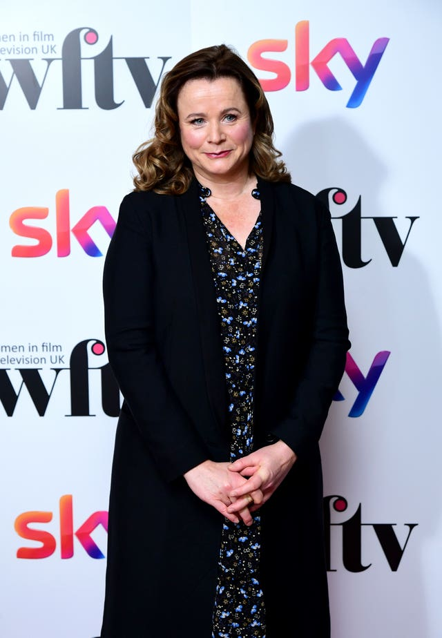 Emily Watson attending the Women in Film and TV Awards 2019 at the Hilton, Park Lane, London