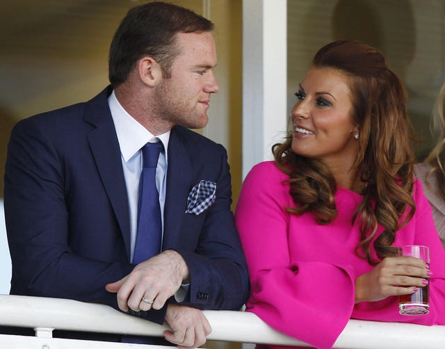Coleen Rooney with footballer husband Wayne