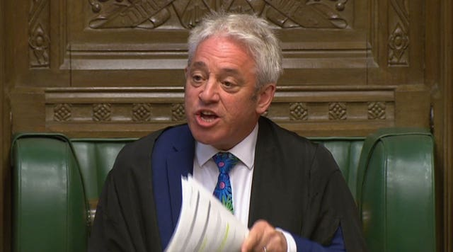 Speaker John Bercow (House Of Commons/PA)