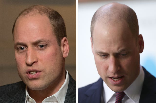 William earlier in the month and his new haircut (PA)